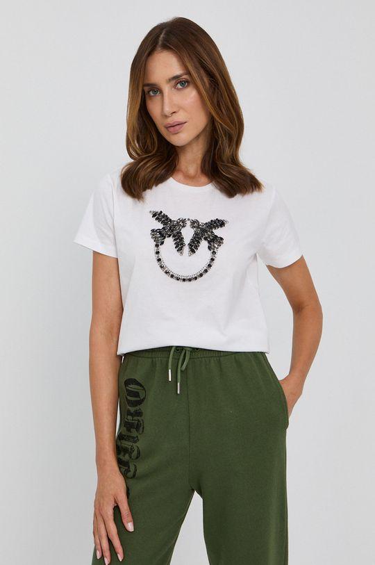 biały Pinko - T-shirt bawełniany Damski
