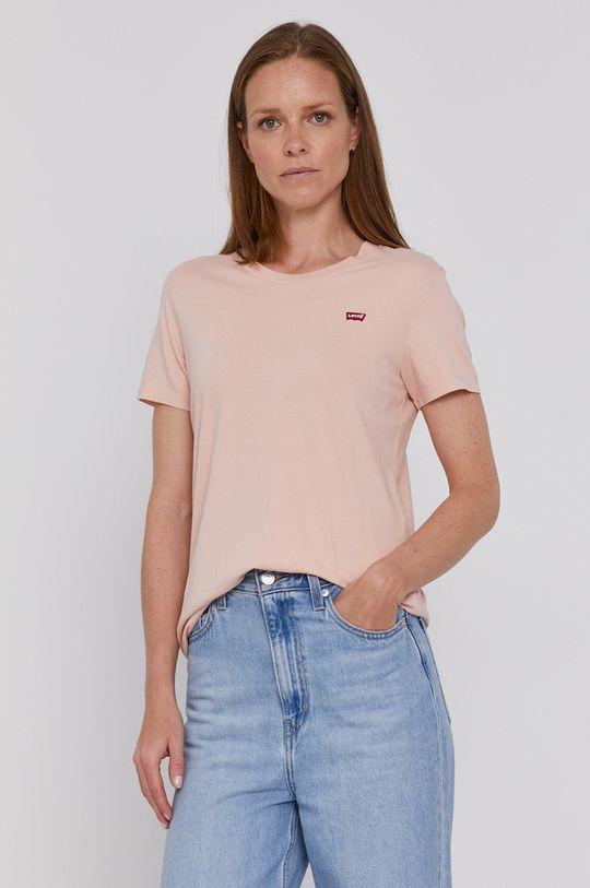 Levi's - T-shirt bawełniany różowy