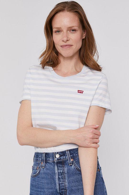 niebieski Levi's - T-shirt Damski