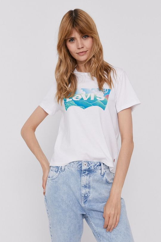biały Levi's - T-shirt Damski