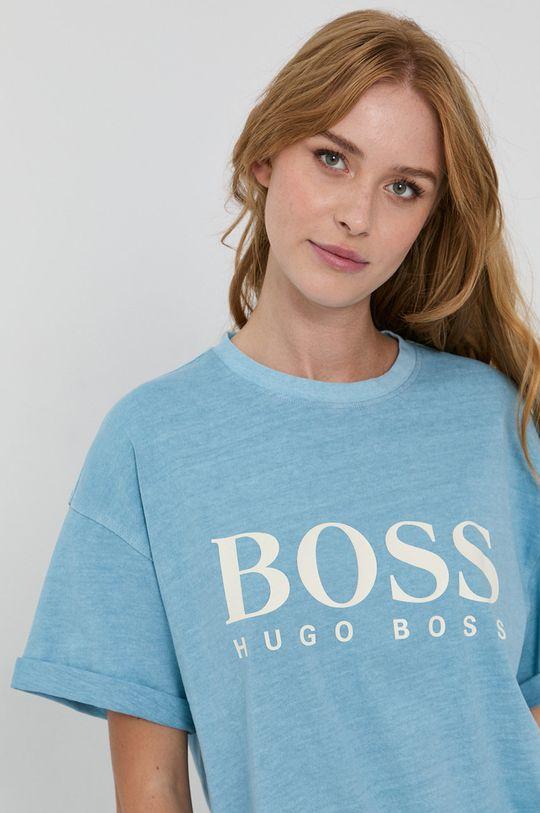 svetlomodrá Boss - Bavlnené tričko