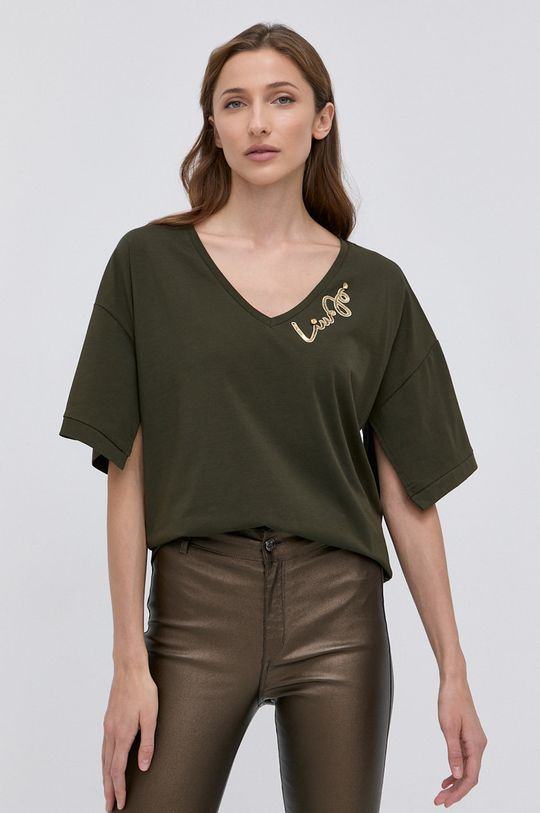 oliwkowy Liu Jo - T-shirt Damski