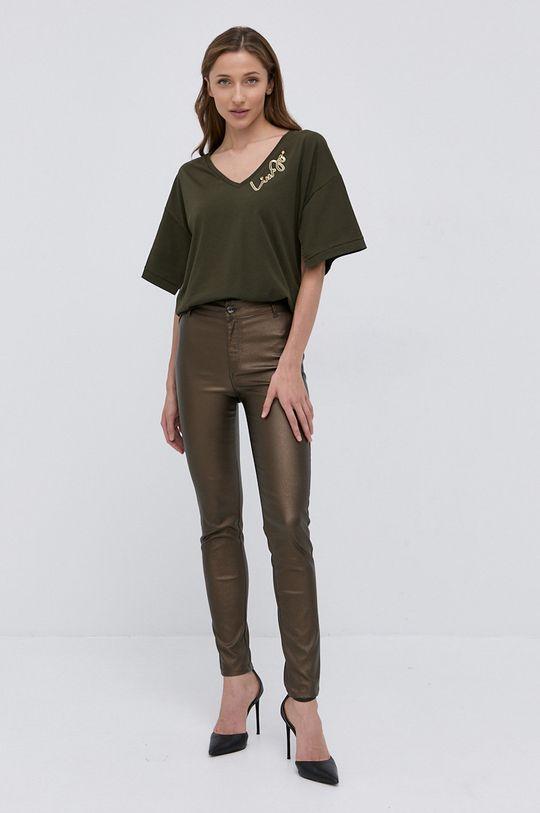 Liu Jo - T-shirt oliwkowy