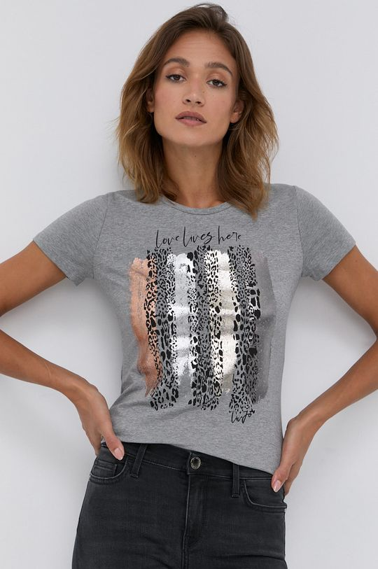 jasny szary Liu Jo - T-shirt Damski