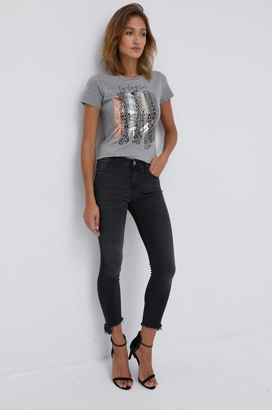 Liu Jo - T-shirt jasny szary