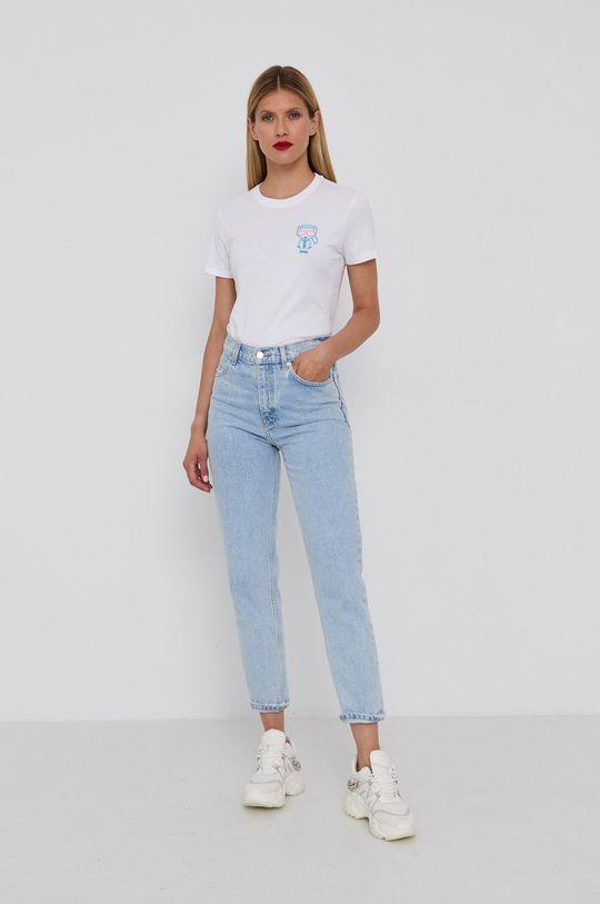 Karl Lagerfeld - Bavlněné tričko bílá
