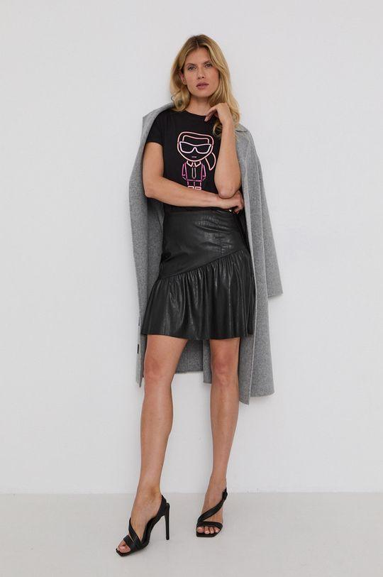 Karl Lagerfeld - Bavlněné tričko černá
