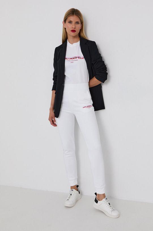 Karl Lagerfeld - T-shirt bawełniany biały