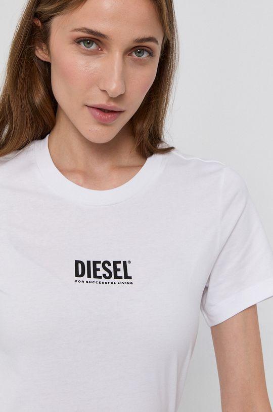 biały Diesel - T-shirt bawełniany