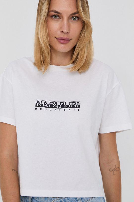 biały Napapijri - T-shirt bawełniany Damski