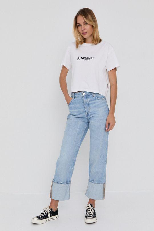 Napapijri - T-shirt bawełniany biały