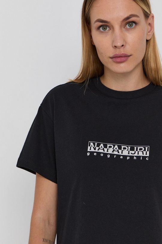 czarny Napapijri - T-shirt bawełniany