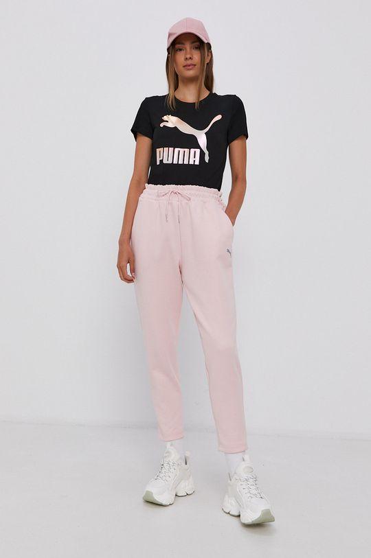Puma - T-shirt bawełniany czarny