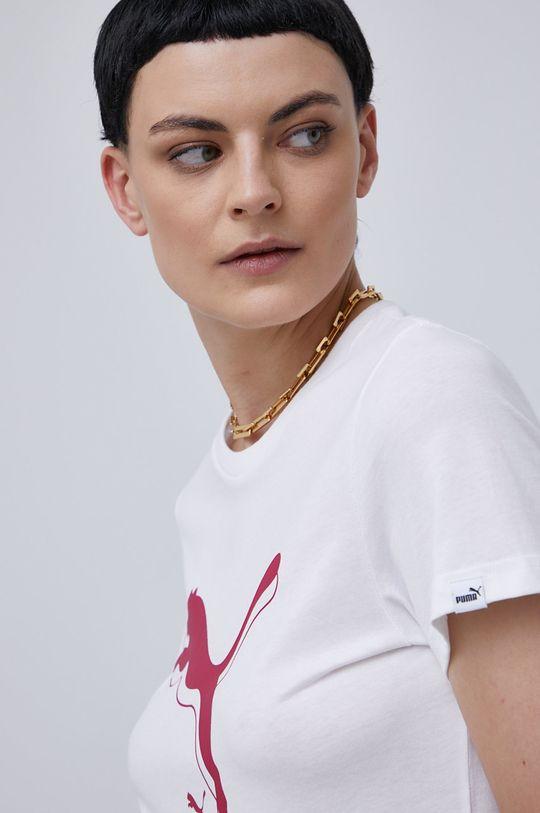 bílá Puma - Bavlněné tričko