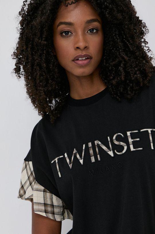 černá Twinset - Tričko ze směsi vlny