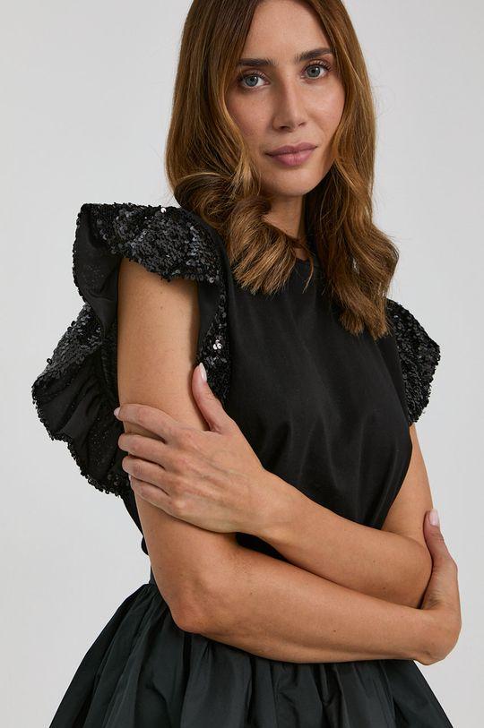 negru Twinset - Tricou din bumbac De femei