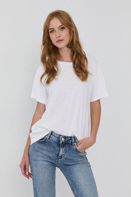biały Twinset - T-shirt bawełniany Damski