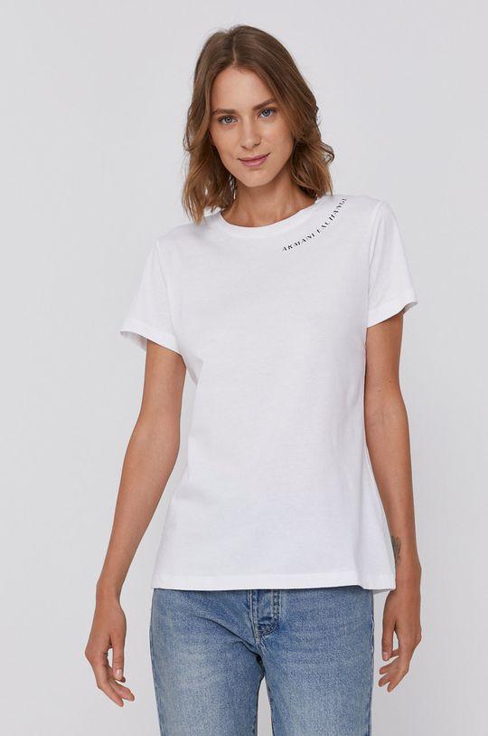 bílá Armani Exchange - Bavlněné tričko Dámský