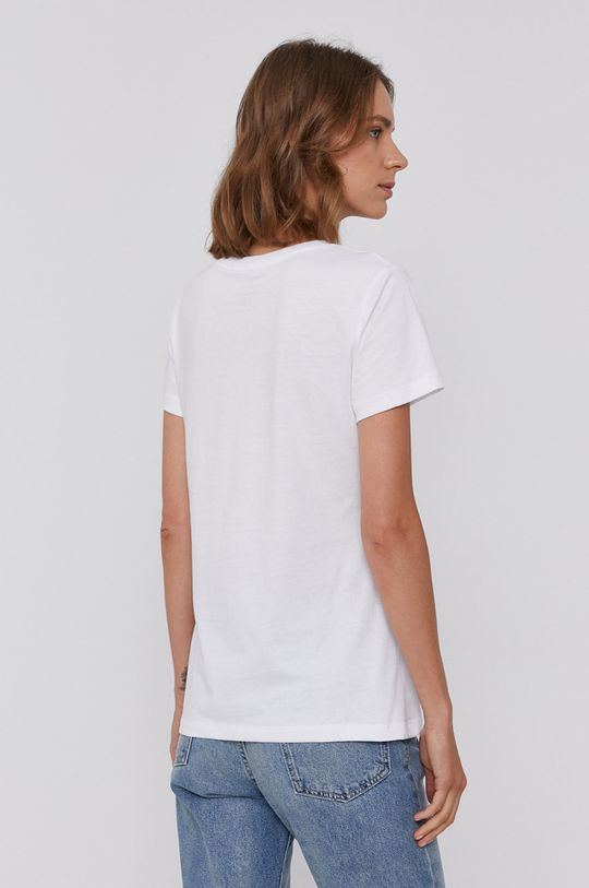 Armani Exchange - Bavlněné tričko bílá