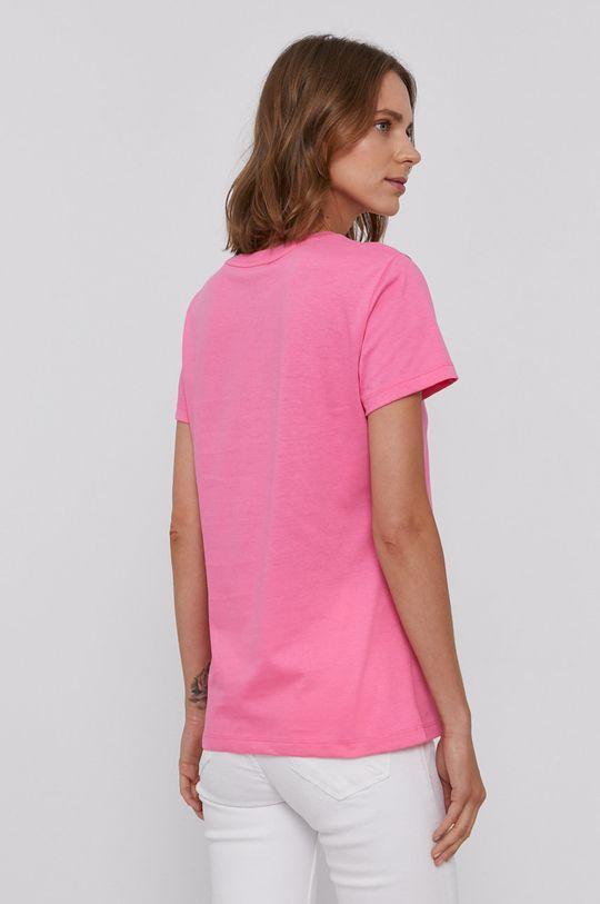 Armani Exchange - T-shirt bawełniany różowy