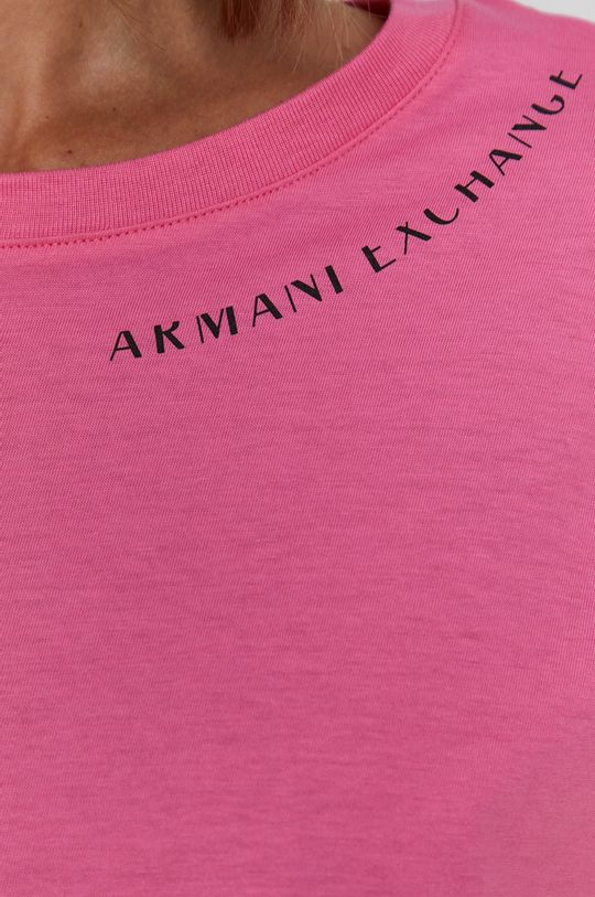 Armani Exchange - T-shirt bawełniany Damski