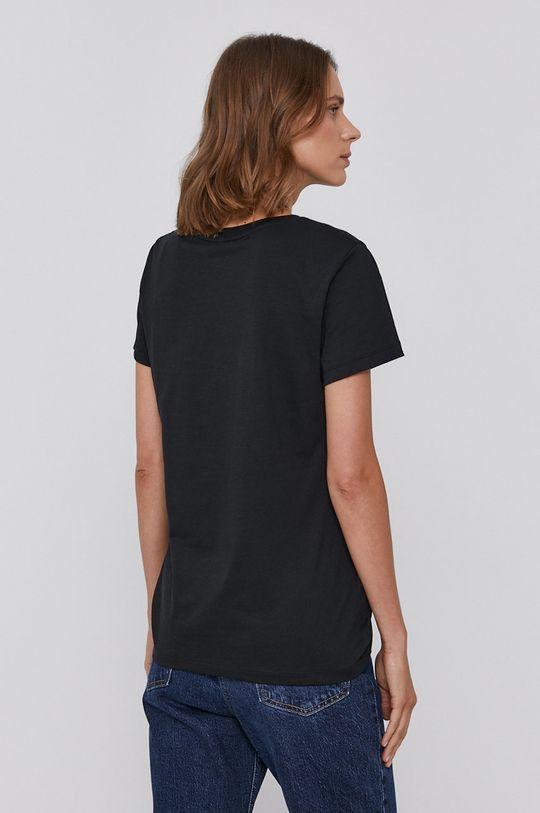 Armani Exchange - T-shirt bawełniany czarny