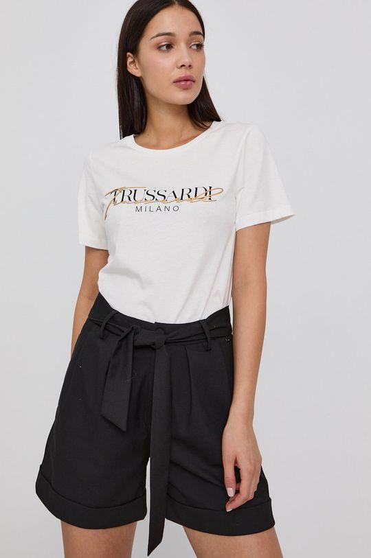 biały Trussardi - T-shirt Damski