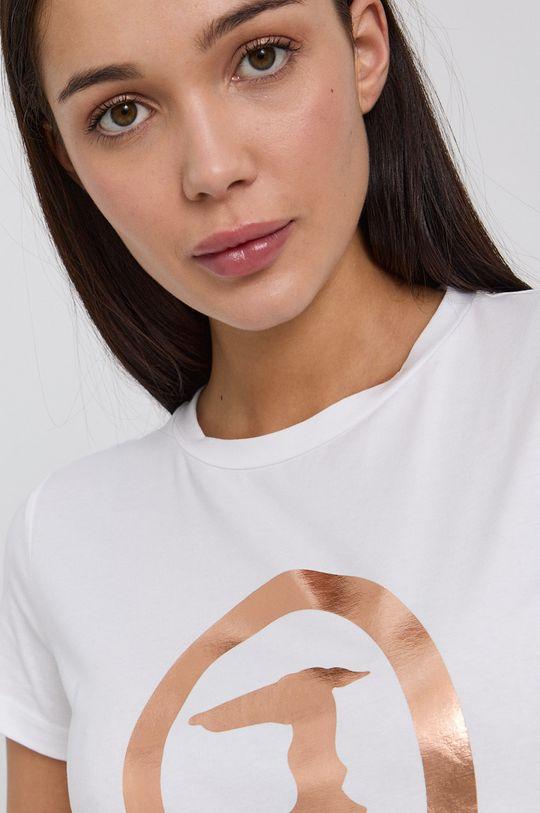 bílá Trussardi - Tričko s dlouhým rukávem