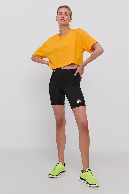 Reebok - T-shirt bawełniany żółty