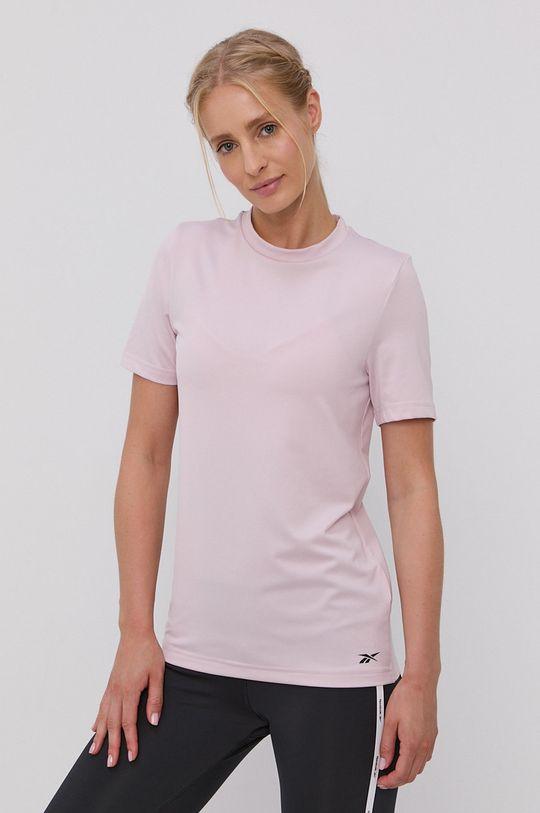pastelowy różowy Reebok - T-shirt Damski