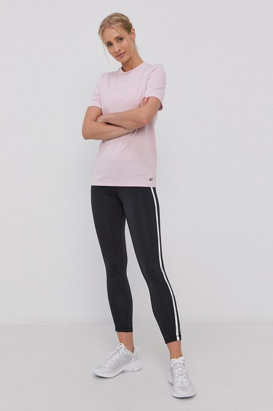 Reebok - T-shirt pastelowy różowy