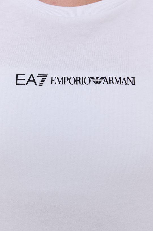 bílá EA7 Emporio Armani - Bavlněné tričko