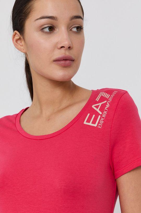 růžová EA7 Emporio Armani - Tričko