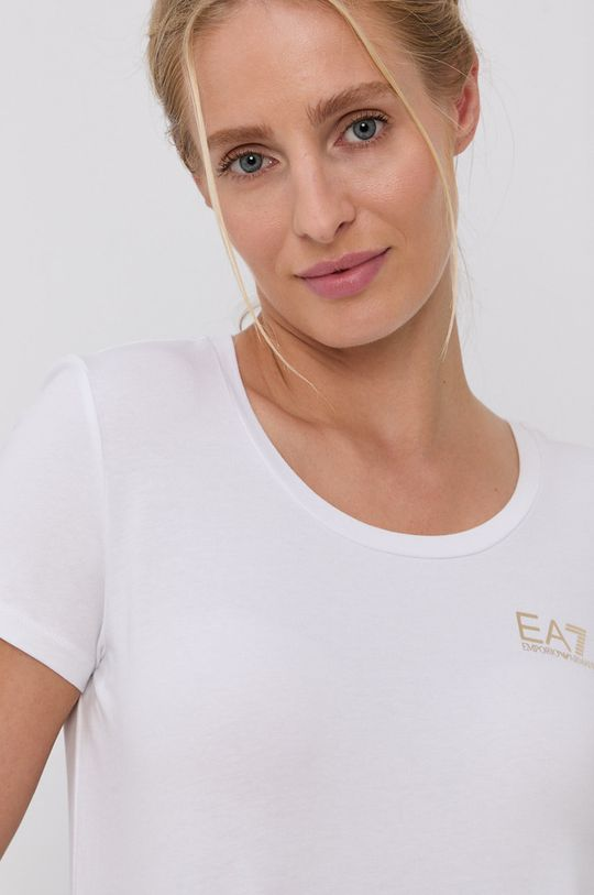 biały EA7 Emporio Armani - T-shirt bawełniany