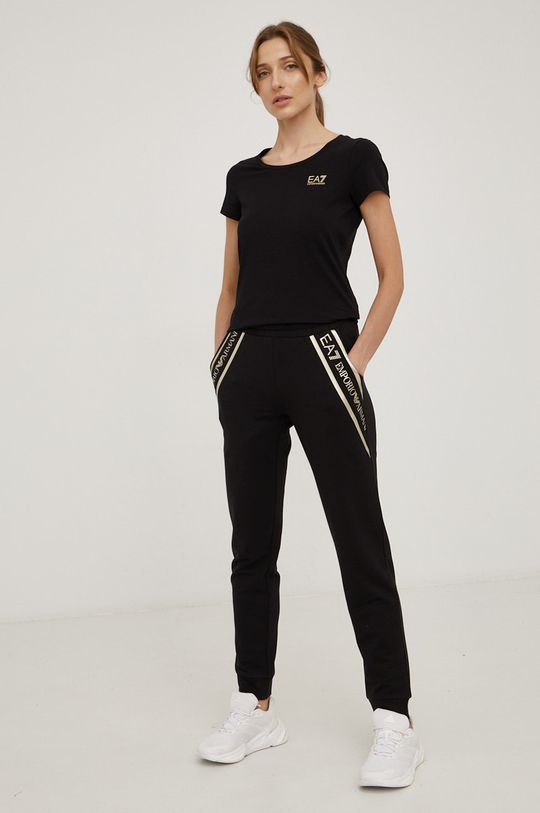 EA7 Emporio Armani - T-shirt bawełniany czarny