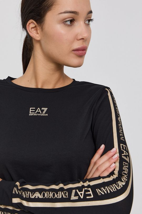 černá EA7 Emporio Armani - Tričko s dlouhým rukávem Dámský