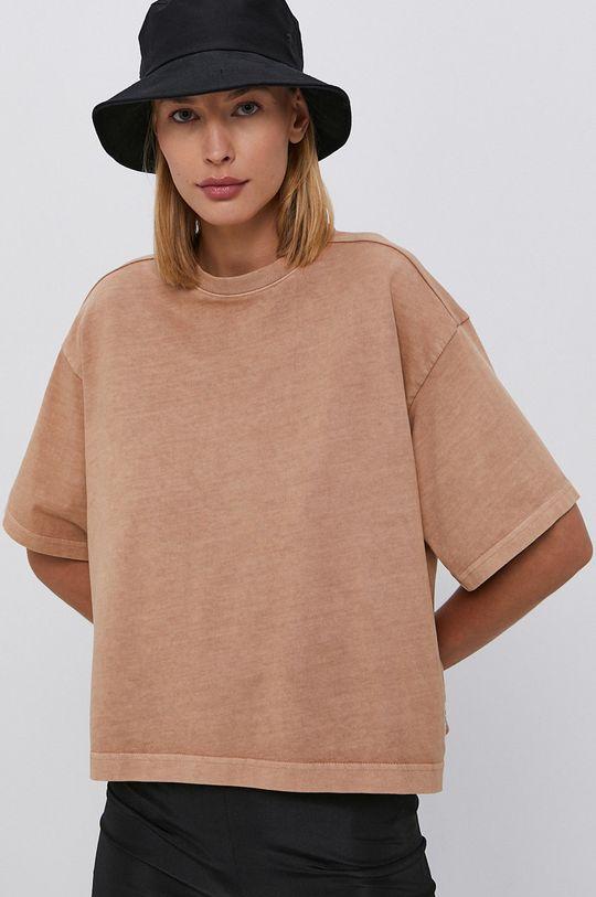 złoty brąz Reebok Classic - T-shirt bawełniany Damski