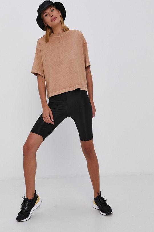 Reebok Classic - T-shirt bawełniany złoty brąz