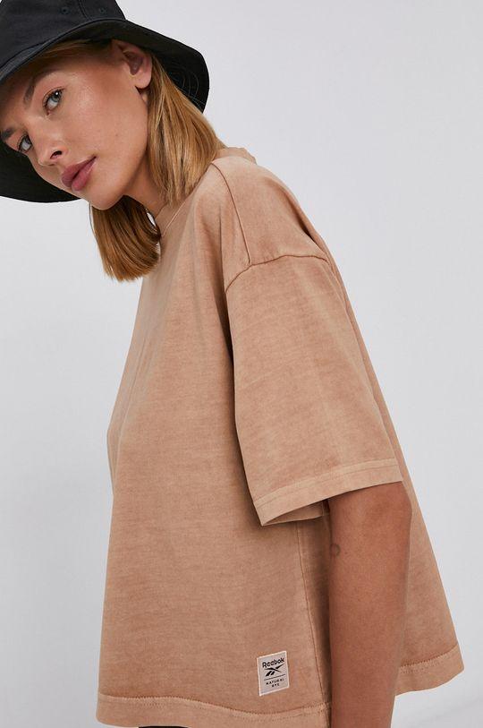 złoty brąz Reebok Classic - T-shirt bawełniany