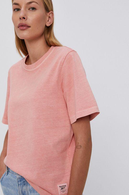 pastelowy różowy Reebok Classic - T-shirt bawełniany Damski