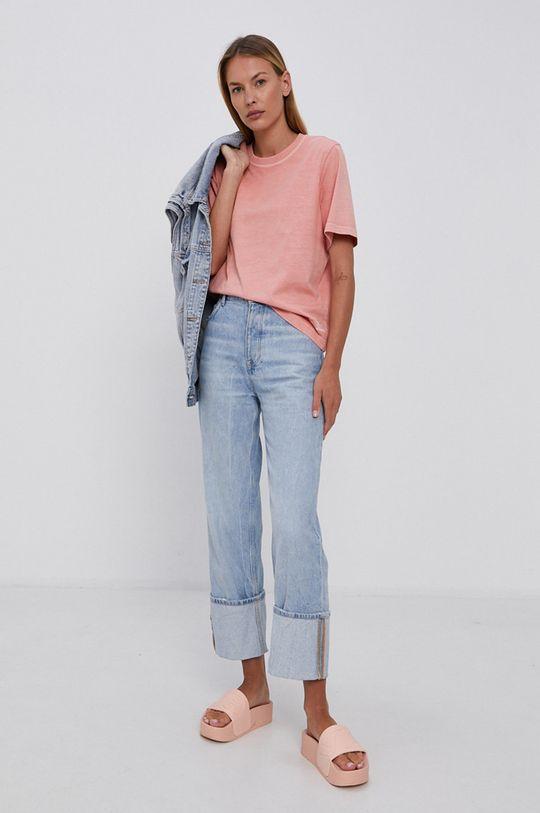 Reebok Classic - T-shirt bawełniany pastelowy różowy