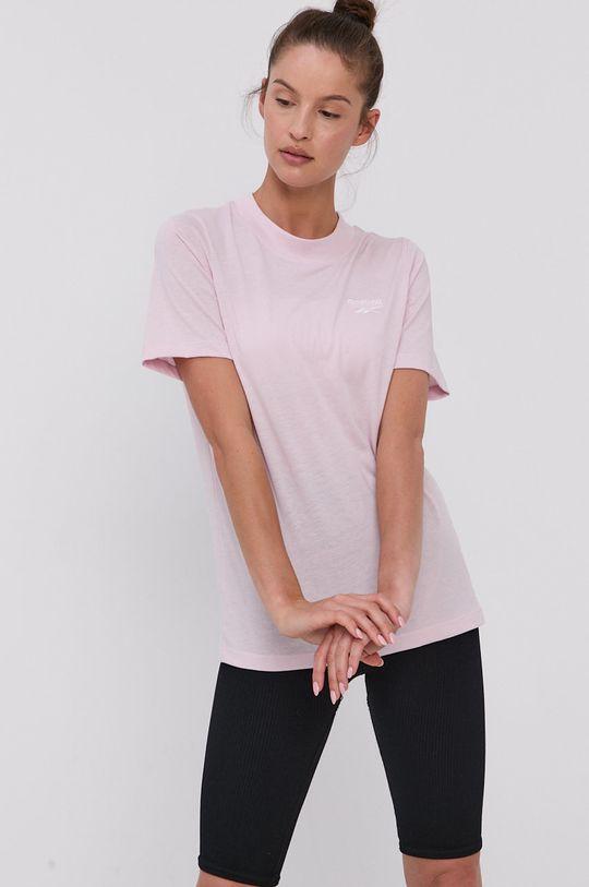 Reebok - Tričko pastelově růžová