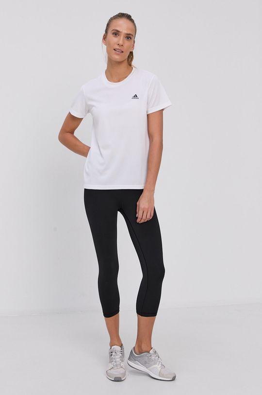 adidas - T-shirt biały