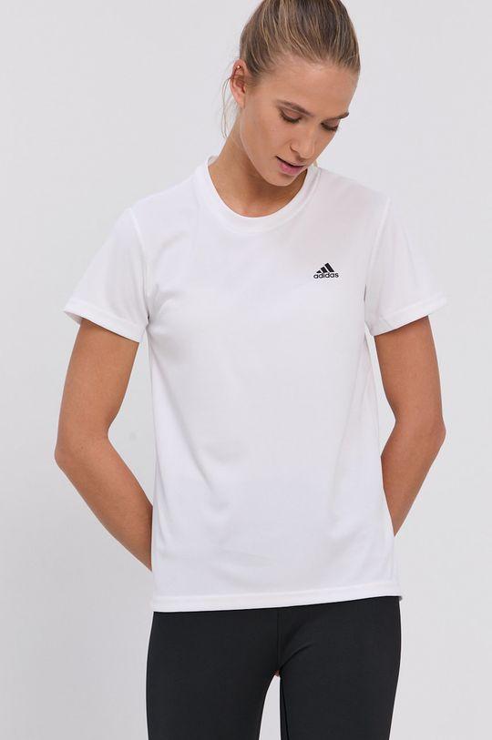 biały adidas - T-shirt