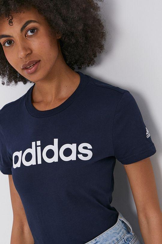 námořnická modř adidas - Bavlněné tričko Dámský