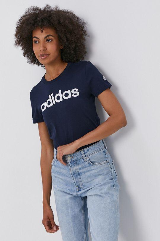 námořnická modř adidas - Bavlněné tričko