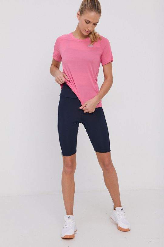 różowy adidas Performance - T-shirt Damski