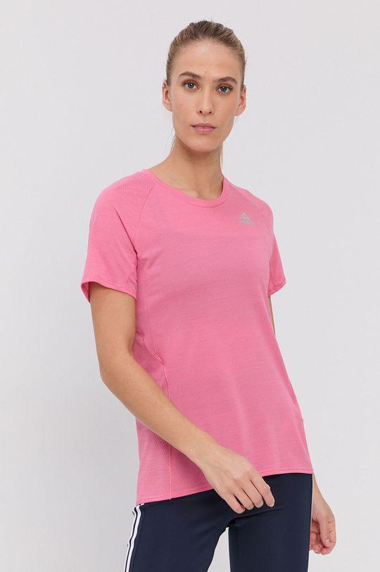 adidas Performance - T-shirt różowy