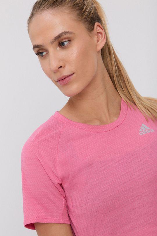 różowy adidas Performance - T-shirt