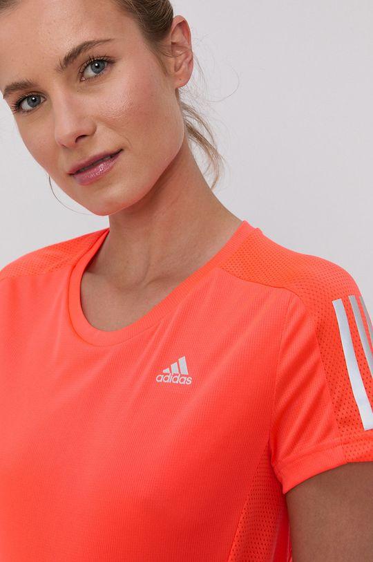 oranžová adidas Performance - Tričko
